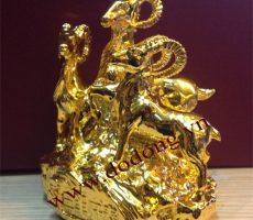 Tượng 3 con dê phong thủy mạ vàng – quà tặng phong thủy