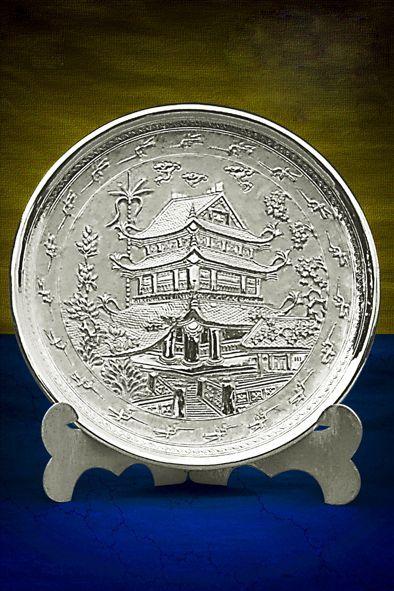 đĩa quà tặng mạ bạc
