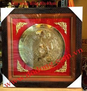 Mặt trống đồng chạm 4 miền 40cm – Quà tặng mặt trống