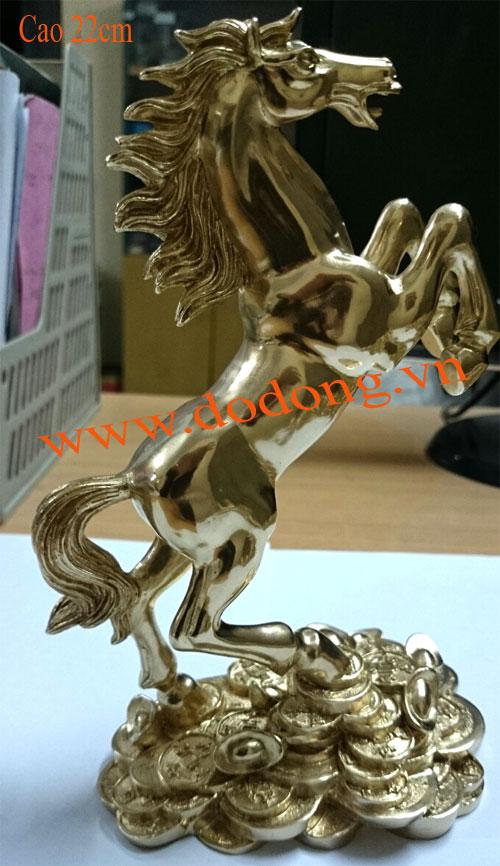 Ngựa phong thủy đúc đồng cao 20cm – ngựa đồng0