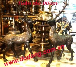Tượng hươu đồng – quà tặng phong thủy