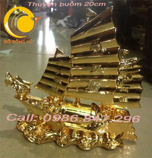 Tượng thuyền buồm mạ vàng – Quà tặng doanh nhân0