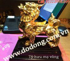 Tượng tỳ hưu đồng mạ vàng – Quà tặng phong thủy ý nghĩa