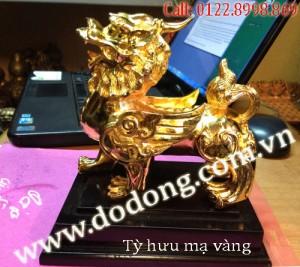 Tượng tỳ hưu đồng mạ vàng – Qùa phong thủy ý nghĩa