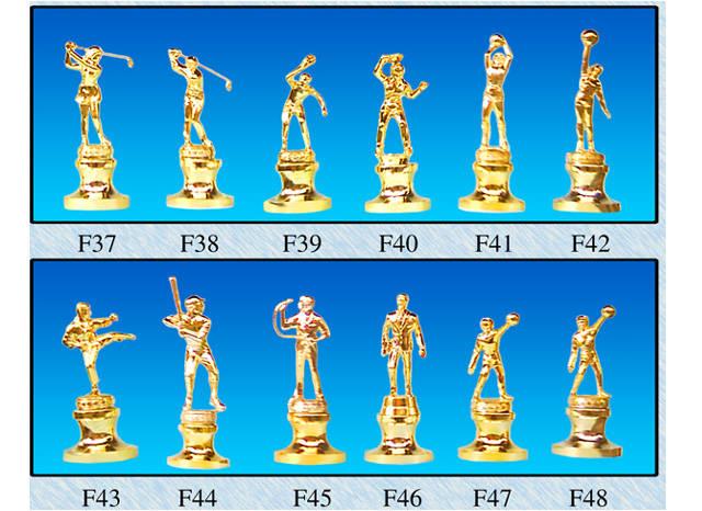cup lưu niệm các môn thể thao bằng đồng mạ vàng