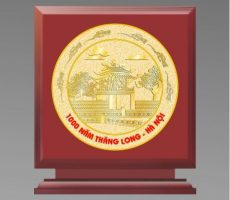 Qùa tặng – biểu trưng gỗ đồng – quà đối ngoại – đồ đồng quà tặng
