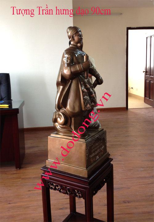 Tượng Trần Quốc Tuấn bằng đồng – quà tặng phong thủy0