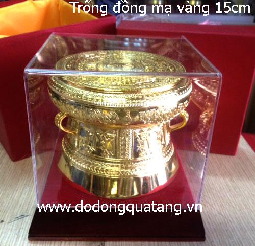 Trống đồng dk 15cm mạ vàng tại Hà nội