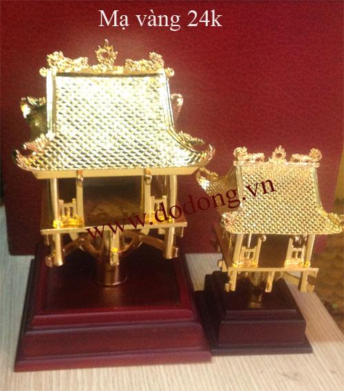 Tượng đồng chùa một cột đúc đồng thu nhỏ tinh xảo, mạ vàng sang trọng
