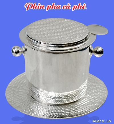 Phin pha cafe bằng bạc nguyên chất - khử độc tố