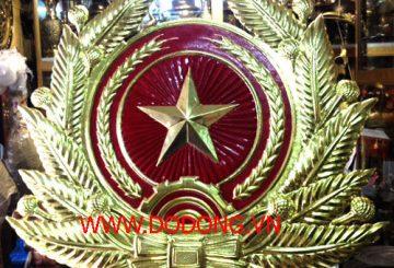 Huy hiệu công an nhân dân gò đồng nổi sơn màu – công an hiệu chuẩn