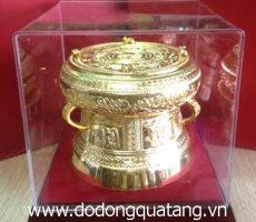 Bộ trống đồng đúc mạ vàng – TMV 13 – quà tặng khách  nước ngoài
