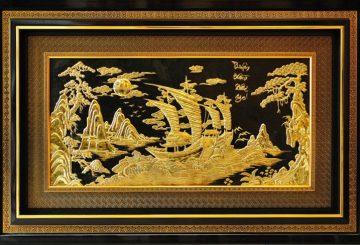 Tranh phong thủy thuận buồm xuôi gió bằng đồng – dodongquatang.vn