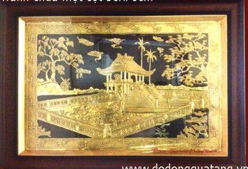 Tranh lưu niệm gò đồng cỡ nhỏ 20x25cm – tranh đồng quà tặng