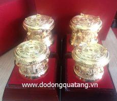 Trống đồng mạ vàng F 7,8 – TMV 78 – đồ đồng