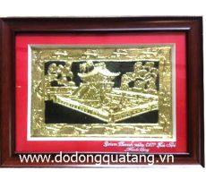 Tranh đồng quà tặng Hà Nội Khuê Văn Các – tranh lưu niệm