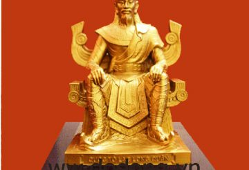 Tượng đồng Quốc tổ lạc long quân 25cm – tượng đồng