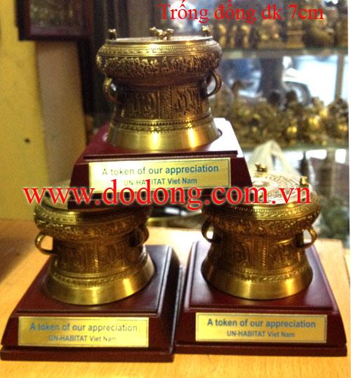 Sản xuất trống đồng đk 7cm tại dodong.com.vn