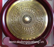 Biểu trưng mặt trống đồng cổ VN d 18cm – đồ đồng
