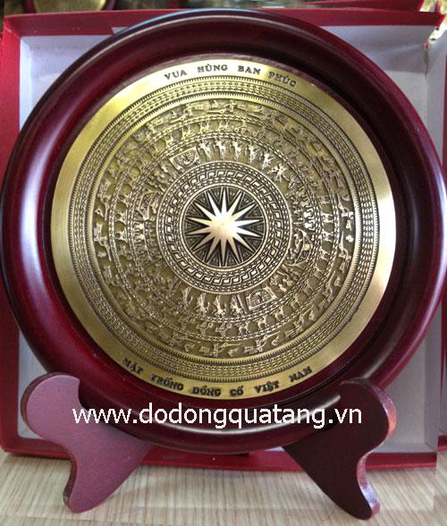 Biểu trưng mặt trống đồng cổ VN d 18cm – đồ đồng0