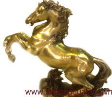 Tượng ngựa đồng vàng 50cm – mã đáo thành công