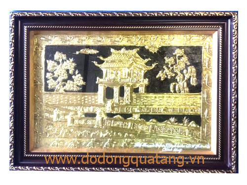 Tranh quà tặng lưu niệm Hà nội - Văn miếu Quốc tử giám