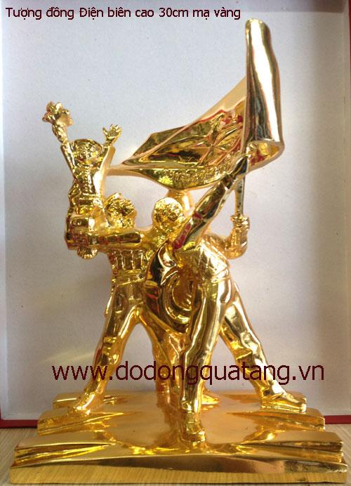 Tượng đồng chiến thắng điện biên - mạ vàng