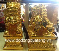 Nghê đồng phong thủy mạ vàng 16cm – đồ phong thủy
