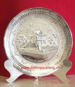 Đĩa đồng mạ bạc, đĩa quà tặng mạ bạc cao cấp – đĩa bạc