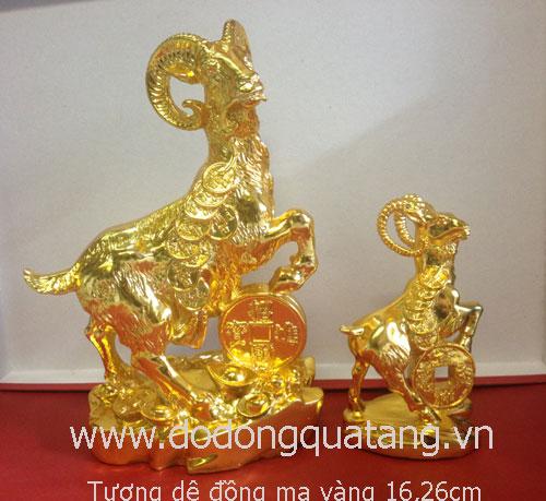 Qùa tặng phong thủy dê mạ vàng lưu niệm ý nghĩa năm 2015
