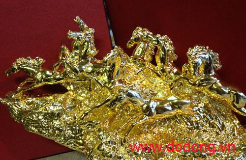 Qà tặng mã đáo thành công mạ vàng 24k 30cm