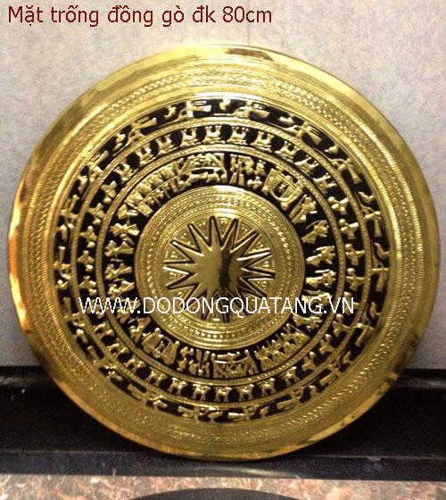 Sản xuất mặt trống đồng dk 80cm mang nét văn hóa đặc trưng Việt nam