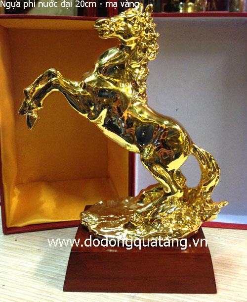 Ý nghĩa ngựa phi nước đại mạ vàng – quà biếu sếp