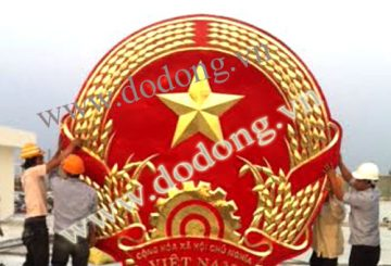 Đúc quốc huy gò đồng mẫu chuẩn dk 1,2,3,4,5,6m – quốc huy Việt nam