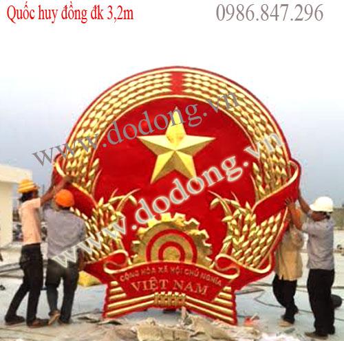 Chế tác Quốc huy Việt nam bằng đồng đk 20,30,40,40,50,1m,2m,3m,4m,5m... chế tác theo yêu cầu