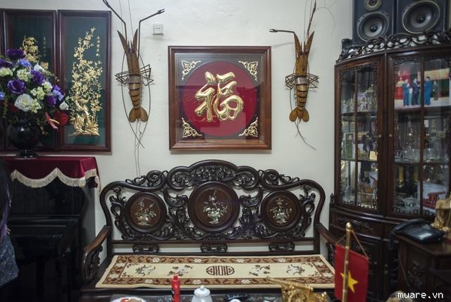 Tranh chữ phúc mạ vàng treo phòng khách - mang lại may mắn,tiền tài cho gia chủ