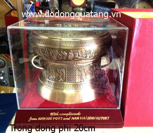 Sản phẩm quà tặng đúc đồng thu nhỏ hoa văn tinh xảo tại dodong.vn