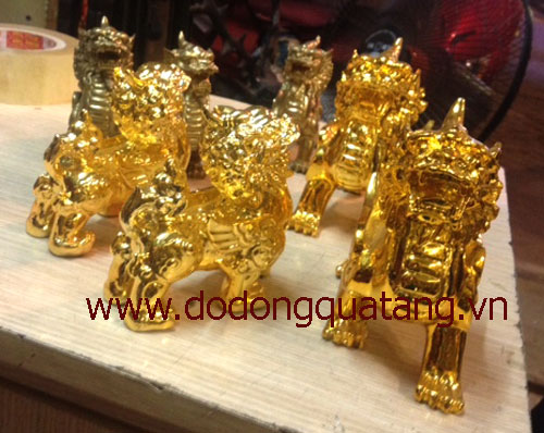 Tỳ hưu đồng mạ vàng chiêu tài lộc công danh – đồ phong thủy0