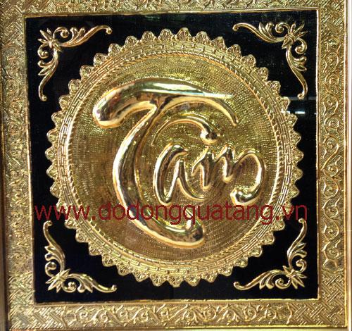 Dát đồng mạ vàng,sơn nền hoàn hiện 60x60cm