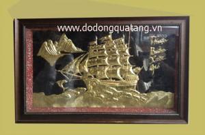 Thuận buồm xuôi gió – quà tặng doanh nghiệp – tranh đồng hà nội