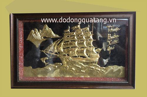 Thuận buồm xuôi gió – quà tặng doanh nghiệp – tranh đồng hà nội0
