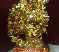 Tượng đồng di lặc mạ vàng cao 20cm – tượng đồng mạ vàng