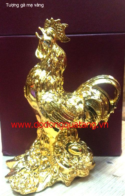 Tượng gà phong thủy mạ vàng 23cm cho người tuổi dậu