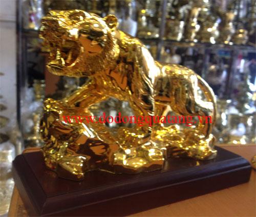 Tượng đồng hổ leo núi mạ vàng 24k cao cấp, dài 22cm,cao 15cm