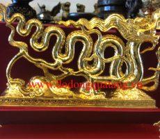 Tượng đồng rồng thời lý 40cm mạ vàng – đồ đồng việt