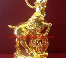 Dê phong thủy mạ vàng 16cm – quà tết hot 2015