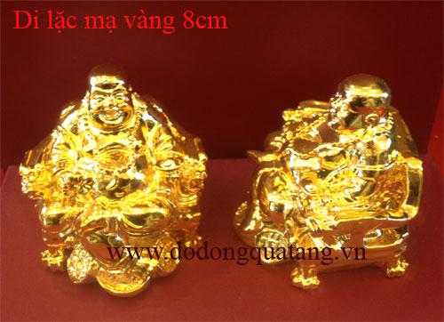 Tượng đồng di lạc mạ vàng 8cm để ô tô đẹp