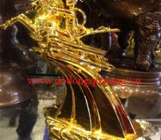 Tượng vàng thánh gióng số 2 mạ vàng – đồ đồng việt