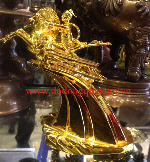 Tượng đồng thánh gióng số 2 mạ vàng - đồ đồng việt
