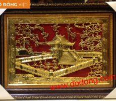 Tranh đồng chùa một cột mạ vàng – Tranh đồng mạ vàng